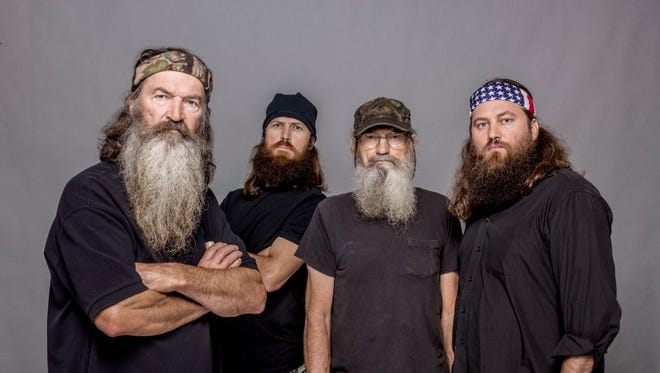 "From left, Phil Robertson, Jase Robertson, Si Robertson and Willie Robertson from ""Duck Dynasty."""