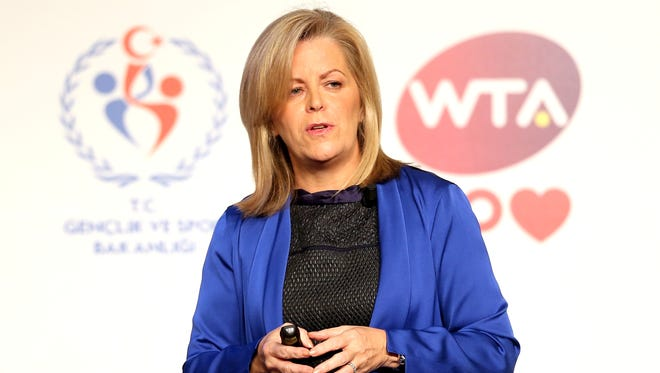 """""""We are committed to the strategy to drive excessive grunting out of the game,"""" WTA Chairman and CEO Stacey Allaster says."""