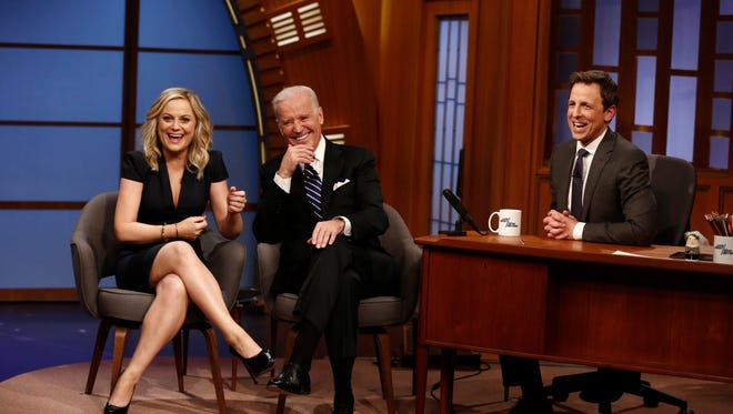 Vice President Biden with Seth Meyers and Amy Poehler.