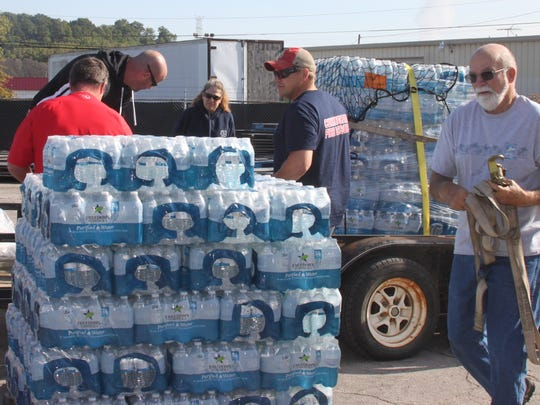 Montgomery County Volunteer Firefighters take in donations