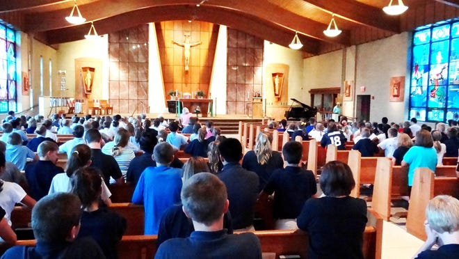 St. Paul School came together on Sept. 9 for a Day of Prayer and Penance for Peace.