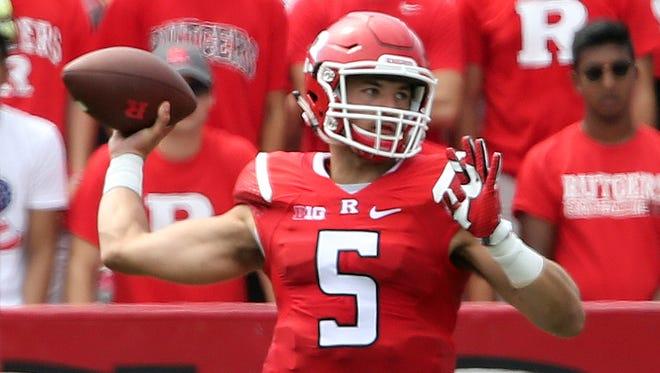 Rutgers quarterback Chris Laviano will start against Ohio State.