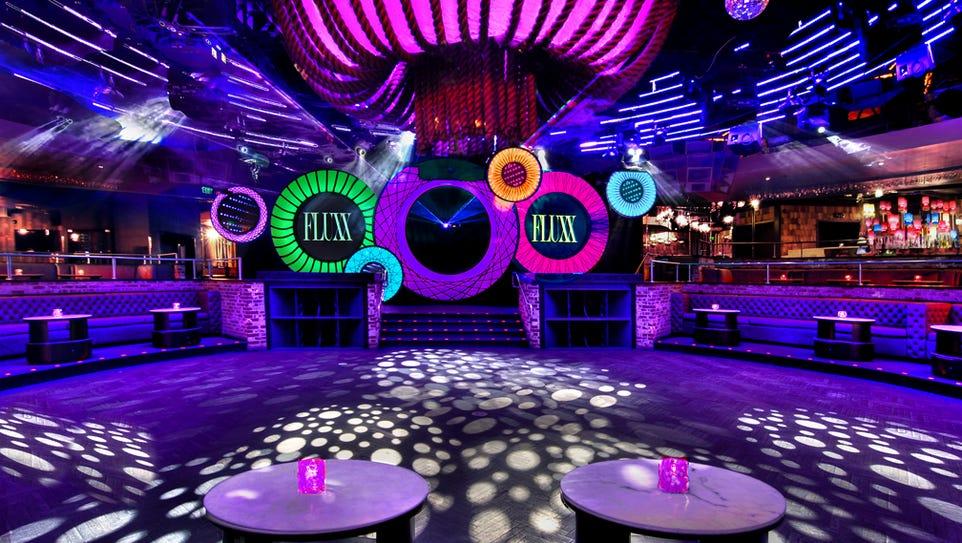 The dance floor at Fluxx in San Diego, California.