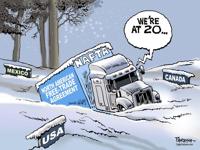 The top political cartoons from around the world for Tuesday, Jan. 8, 2014.