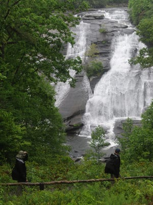 High Falls is one of four stops along the Friends of DuPont Forest Tour De Falls this weekend.