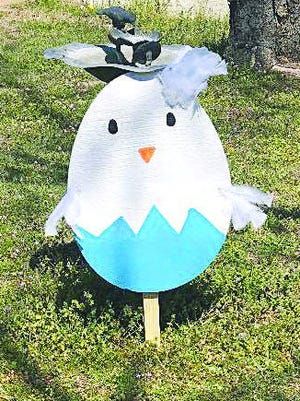 The first place decorated egg in Market 54's first-ever Easter egg hunt was created by Pamela Hensley. Other participants in the contest, photographed and sent in votes for their top selections.