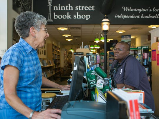 Ninth Street Book Shop owner Gemma Buckley smiles at