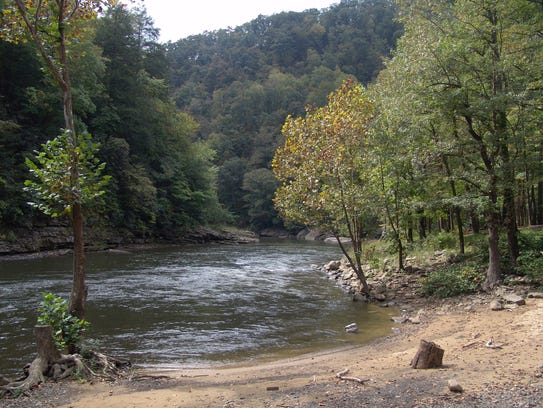 The public access at Ratliff Hole on the Russell Fork