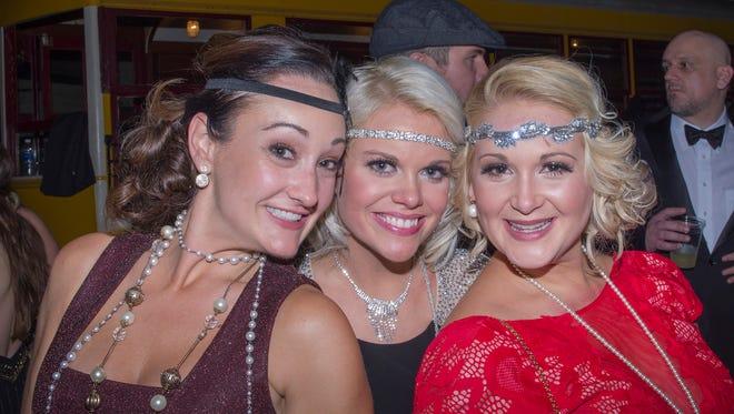Gatsby Girls Speakeasy Ball - Kristin Vaughn, Ashley Saba and Heather Kilpatrick.