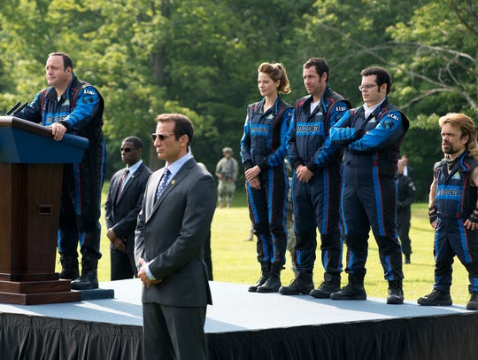 President Cooper (Kevin James) introduces his heroic
