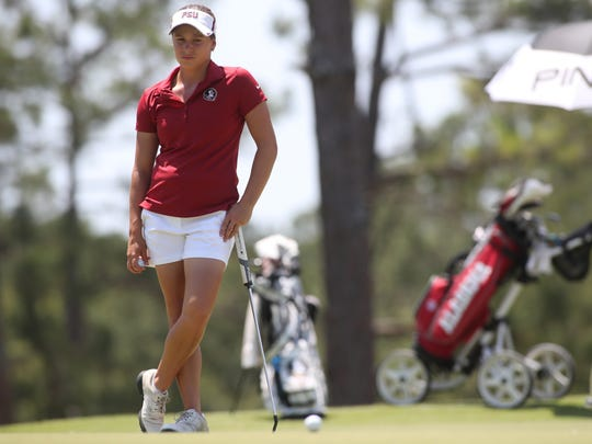 FSU's Amanda Doherty during the NCAA Women's Golf Regional Championships Wednesday, May 9, 2018.
