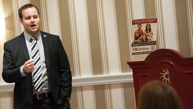 Josh Duggar in February 2015, at a conservative political event.