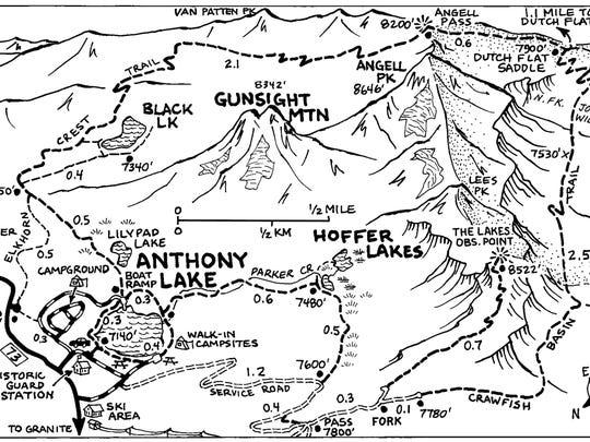 Map of Anthony Lake