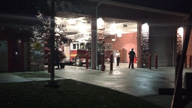 Four Jacksonville, Fla., firefighters escaped serious injury Dec. 23, 2014, in an apparent drive-by shooting.
