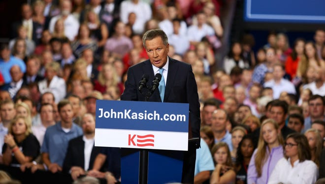 Ohio Gov. John Kasich announced his bid for president at the Ohio Atrium at Ohio State University on Tuesday.