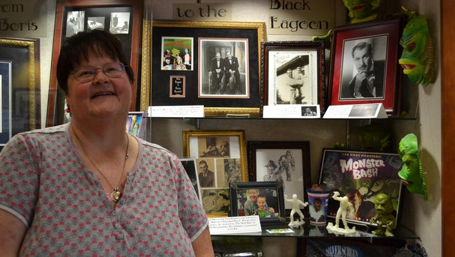 Evelyn Dorn started collecting movie monster memorabilia about 25 years ago, but her interest in old horror flicks goes back to the time she spent on her grandparents' Green Springs farm when she was a child.