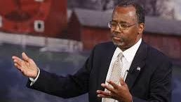 Dr. Ben Carson speaks at the Iowa Freedom Summit in January in Des Moines.