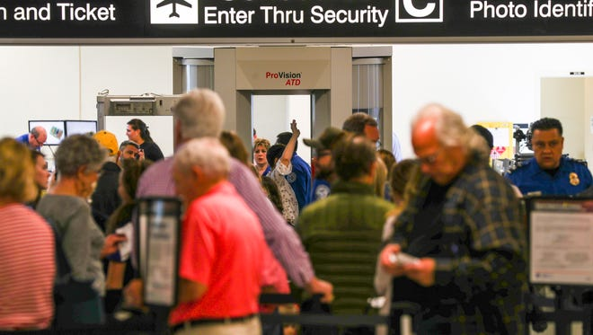 Busy security checkpoints at RSW have caused the Lee County Port Authority to studying the feasibility of expanding the passenger terminal to accommodate one, bi consolidated TSA checkpoint operation with at least 14 lanes. Between 10:30 and 11:30 am on Wednesday is a busy time at the airport. Passengers scramble to one of three checkpoints, lines were slow but moved along, TSA K9 Teams helped move people through security too.