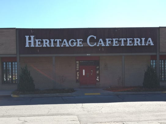 The vacant Heritage Cafeteria building as photographed