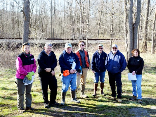 Susan Maney, Horticultural Aide Monroe County Parks, Mark Quinn, Superintendent of Horticulture Monroe County Parks, Peter Lent, Chairman Oatka Creek Watershed Committee, Garrett ( Gary ) Koplun, Forester Region 8 DEC, Matt Sanderson, Fisheries Biologist Region 8 DEC, Steve Leupold, Volunteer Oatka Creek Watershed Committee, Kim Falbo, District Technician Wyoming County Soil and Water Conservation District, not shown Larry Charette, President Seth Green Chapter