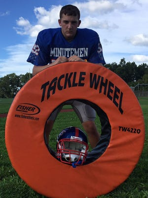 Washington Township sophomore Louie Griggs leads the Minutemen in tackles this season.