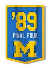 Michigan won its only national basketball title in 1989.