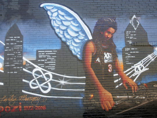 The Mpozi Mshale Tolbert mural in Broad Ripple