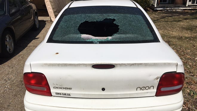 Police say they've caught three suspects who damaged numerous vehicles and houses in Ionia and Barry counties last week using a slingshot and marbles.