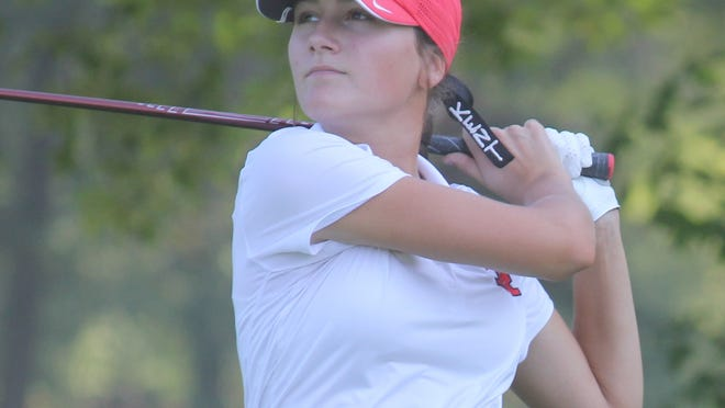 Maren Seaholts, a member of the Kent Roosevelt girls varsity golf team, is the only golfer in Portage County that returns to defend her Player of the Year status in league play and is also the reigning Record-Courier Player of the Year in girls golf.