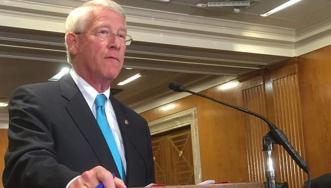 Sen. Roger Wicker, R-Miss., heads the National Republican Senatorial Committee, which he said is aims to raise $62 million to help the GOP keep its Senate majority.this year.