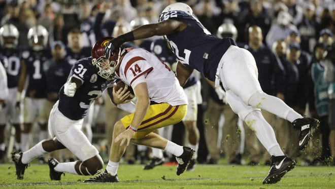 Penn State's young defense must grow up even more for the Lions to take the next step in 2017. That starts at linebacker with freshman Cam Brown (31) and tackle Curtis Cothran (52). Both promising players must become more of a force this fall.