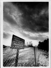 January 1972: Suicide Hill was also known as Dead Man's Hill. It was fenced off to prevent sledding injuries.