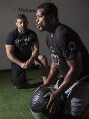 Dion Jordan with Tareq Azim.