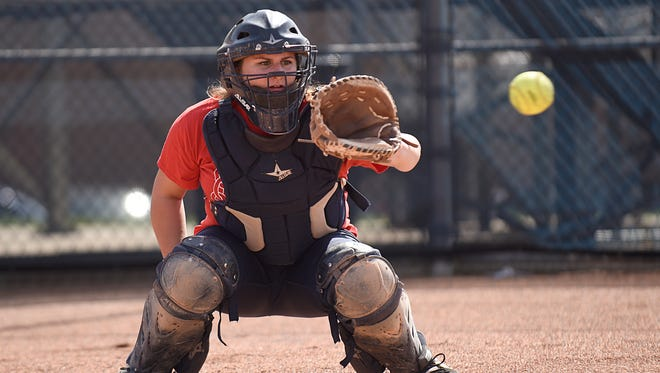 Durable senior catcher Danielle Petras is a team co-captain who has caught every single game of her career at Farmington..