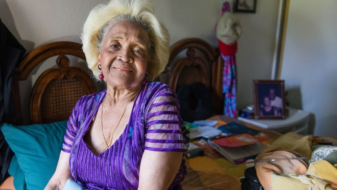Esther Ellis sits on her bed at home in Hawthorne, Calif. on July 18, 2017. She received a new mattress earlier this year from Partners in Care, a nonprofit that runs four of the dozens of sites in California's Multipurpose Senior Services Program, a Medicaid-funded home services program.