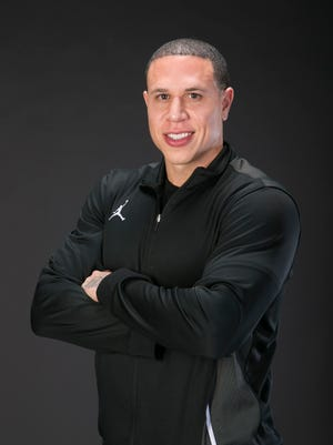 Mike Bibby, the big schools boys basketball coach of the year is seen on Thursday, March 17, 2016.