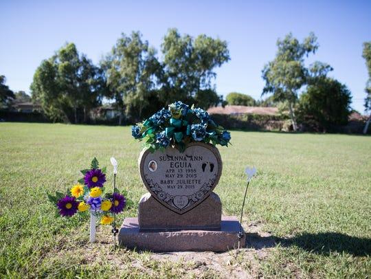 Susanna Ann Eguia's grave site at Seaside Memorial