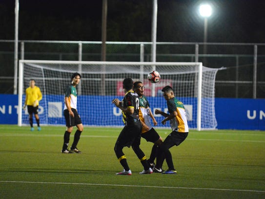 UOG Men's Soccer play at the GFA National Training