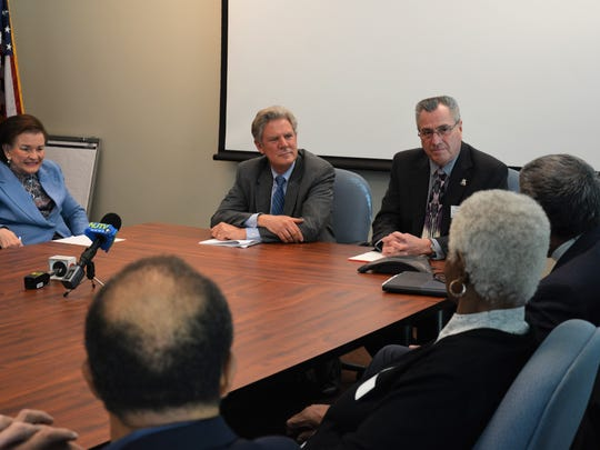 On Dec. 18, Middlesex County Freeholder Director Ronald G. Rios and Freeholder Blanquita B. Valenti joined Congressman Frank Pallone to discuss the impact the new tax bill will have on the senior community. Participants in the discussion included representatives from the Middlesex County Office of Aging and Disabled Services; the Office of Aging and Disabled Services Advisory Council; local municipal senior centers; and New Jersey Citizen Action. The group discussed the bill's effect on programs impacting seniors, such as Medicare, Social Security and Medicaid; the PayGo budget law policy and more.