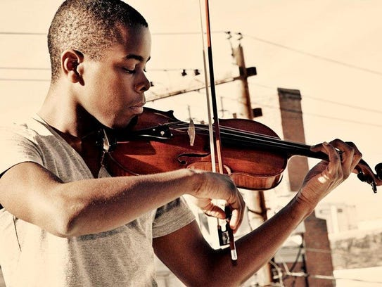Violinist Wynton Grant is a scholarship recipient to