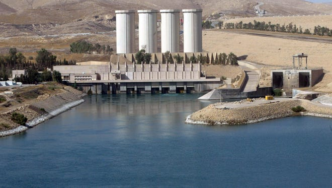A general view shows the Mosul dam on the Tigris River on Oct. 31, 2007.