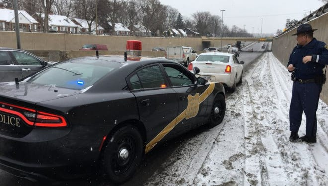 MSP stops another speeder who entered the freeway ramp at 65 mph.