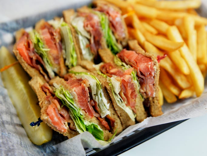 The club sandwich is shown at West York Sandwich House