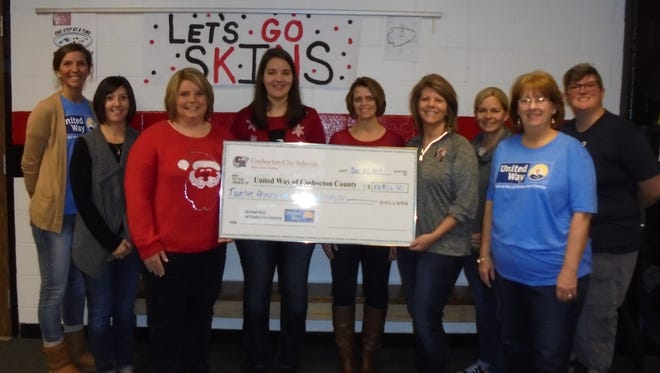 Coshocton City Schools' employees raised almost $13,000 in contributions for the United Way of Coshocton County.