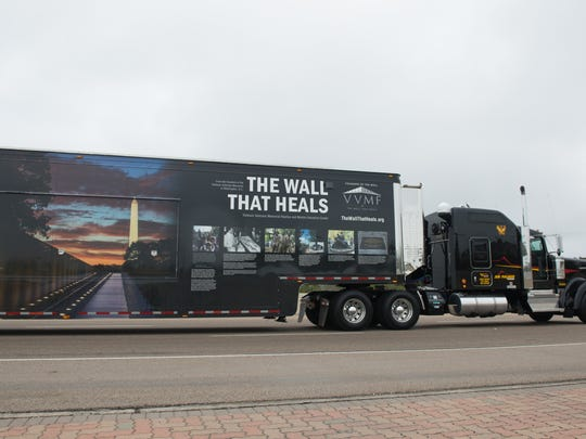 """""""The Wall That Heals"""" is coming to Howell on Aug. 21 as part of a national tour and will stay through Aug. 26. The exhibit includes a replica of the Vietnam Veterans Memorial wall, as well as a mobile education center."""
