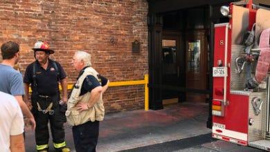 A fire has shut down Merchants on Lower Broadway in Nashville.