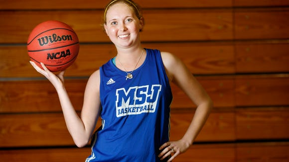 Mt. St. Joseph University basketball player Lauren Hill of Lawrenceburg, Ind., is photographed at the Mount's gymnasium last week.