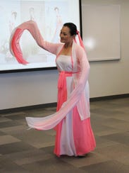 A dancer performs a classic Chinese dance.