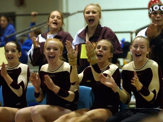 The Rocky Mountain gymnastics team won three-straight
