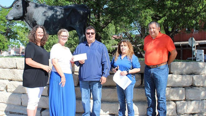 National Beef made a $30,000 donation to DCPD,DCFD and the City of Dodge City in support of its COVID-19 response. SUBMITTED PHOTO